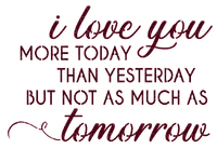 I Love You Text Red - Bogusia