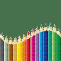 school colorful pencil border