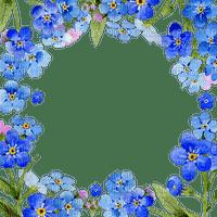 blue flower frame forget me not  cadre bleu fleur m'oublie pas fleur