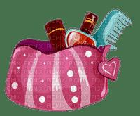 makeup tube deco  maquillage rouge schminke bag make-up bag schminktasche sac de maquillage tasche poche scrap