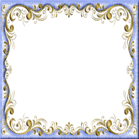 blue gold frame bleu or cADRE DECO