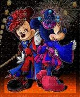 image encre effet néon cirque carnaval bon anniversaire Minnie Mickey Disney  edited by me