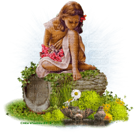 child girl spring enfant printemps
