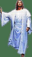Jesus silueta azul
