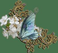 Deco.Papillon.Butterfly.Fleur.Coin.corner.cadre.frame.Victoriabea