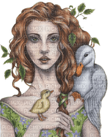 kikkapink woman fantasy bird birds