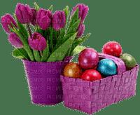 Pâques  œufs fleurs_printemps_tube