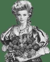 soave woman vintage fashion rose flowers