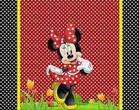 multicolore image encre bon anniversaire effet deco color fleurs ink ivk  à pois Minnie Disney edited by me