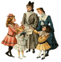 vintage family people woman child paintinglounge