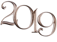 new year 2019 silvester number text