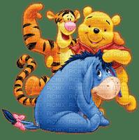 image encre bon anniversaire Pooh Eeyore tiger couleur effet Disney edited by me