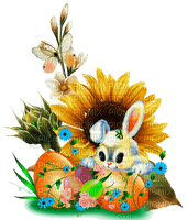 Pâques-happy easter-lapin-flower