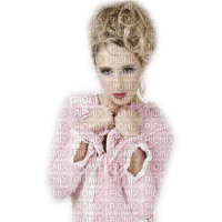 minou-woman in pink-blond