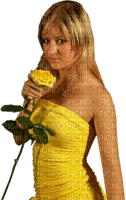 Kaz_Creations Woman Femme Yellow Flower
