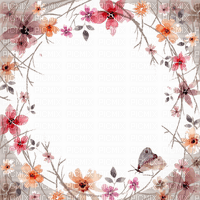 flower frame cadre fleur deco