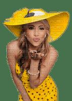 Kaz_Creations Woman Femme Yellow Polka Dots Hat