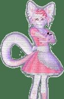 Catboy in strawberry sakura outfit
