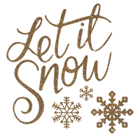 text winter hiver gold