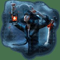 woman lantern femme lanterne