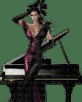 Kaz_Creations Woman Femme Piano