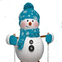 snowman ski bonhomme de neige patin