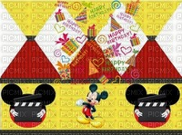 image encre happy birthday Mickey Disney cadeaux effet edited by me