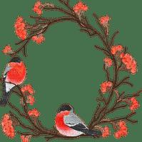 birds on flower branch oiseaux branche fleur