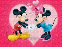 image encre couleur texture Mickey Minnie Disney coeur effet edited by me