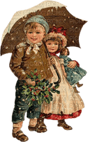 enfant couple hiver vintage childs winter
