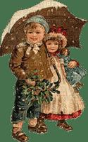 enfant couple hiver vintage childs winter