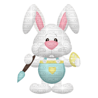 easter bunny painting egg pâques lapin peinture oeuf