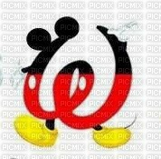 image encre lettre W Mickey Disney edited by me
