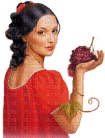 soave woman  autumn vintage grapes red