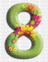 image encre numéro 8 fleurs bon anniversaire edited by me