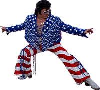 Kaz_Creations America 4th July Independance Day American Elvis Man Homme