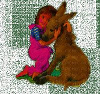 a menina e burrinho