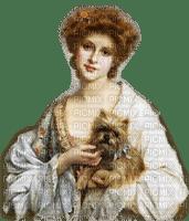 vintage woman dog femme chien 👩🦱🐶
