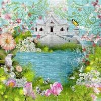 spring printemps  paysage landscape fond background see lac lake flower fleur house