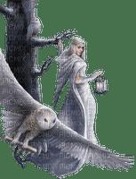 femme avec oiseau.Cheyenne63