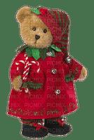 christmas-Teddy bear-red-clothes-deco-minou52