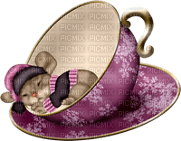 cup sleeping mouse souris tasse