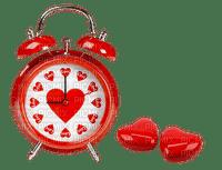 valentine valentin deco montre  regarder clock coeur heart red
