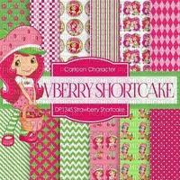 strawberry shortcake bg  charlotte aux fraise fond