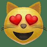 Heart eyes cat emoji
