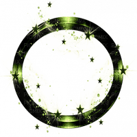 green frame circle fantasy vert cadre cercle fantaisie