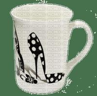 Shoe Cup White Black - Bogusia