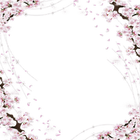 spring flowering branch frame printemps branche fleur cadre