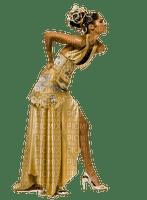 woman in gold dress, sunshine 3