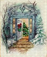 Winter, Weihnachten, Tür, Hintergrund
